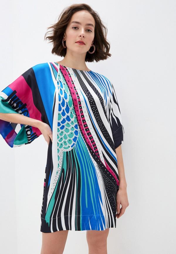 женское платье макси just cavalli, разноцветное