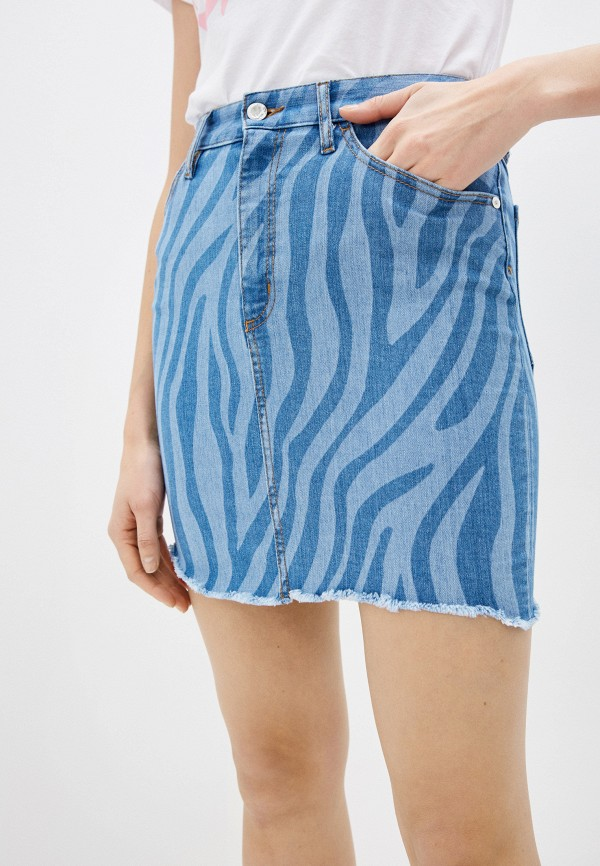 женская джинсовые юбка just cavalli, голубая