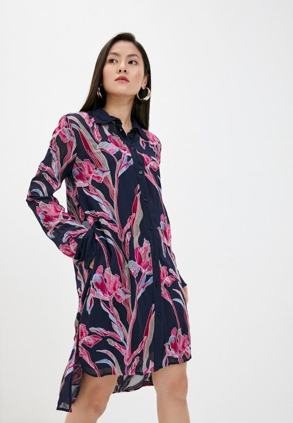 женское платье just cavalli, синее