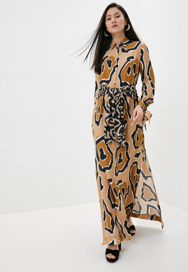 женское платье just cavalli, бежевое