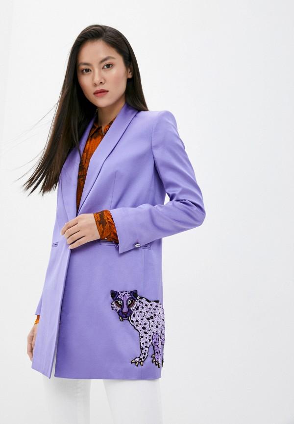 женский жакет just cavalli, фиолетовый