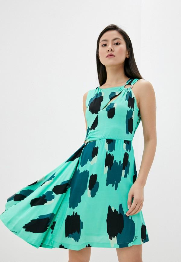женское повседневные платье just cavalli, зеленое