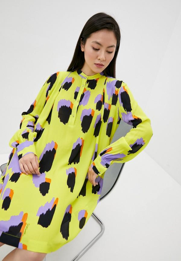 женское платье just cavalli, желтое