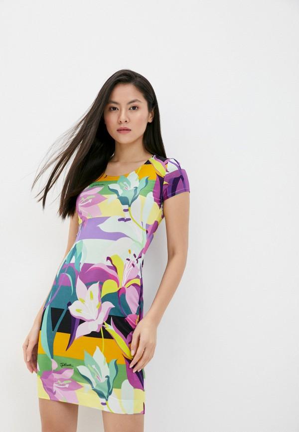 женское платье-футляр just cavalli, разноцветное