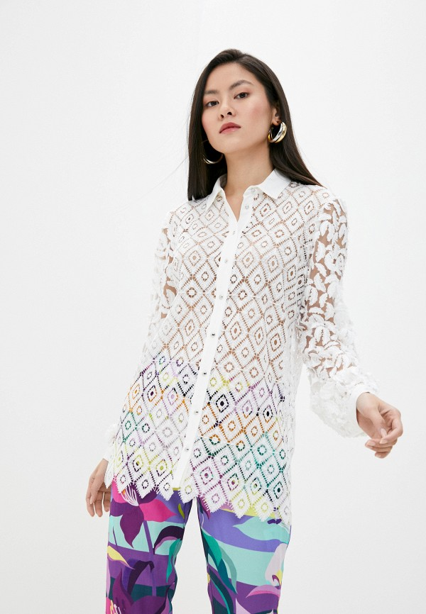 женская блузка just cavalli, белая
