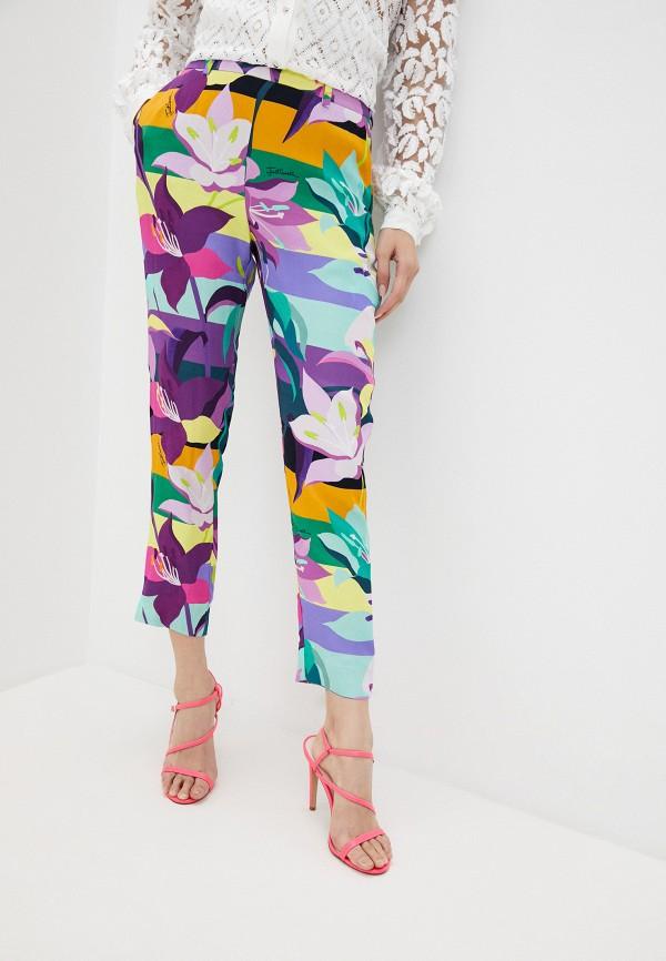 женские повседневные брюки just cavalli, разноцветные