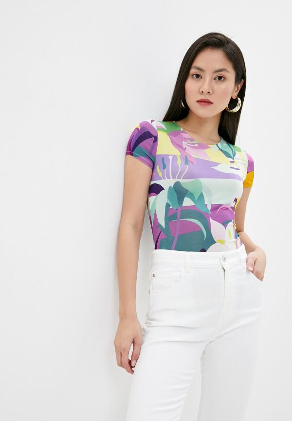 женская футболка just cavalli, разноцветная