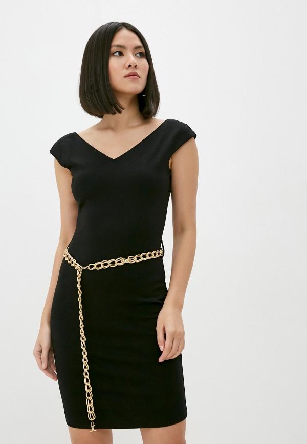 женское платье-футляр just cavalli, черное