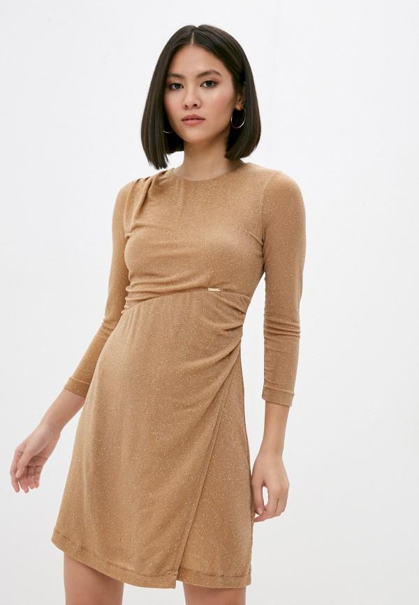 женское вечерние платье just cavalli, бежевое