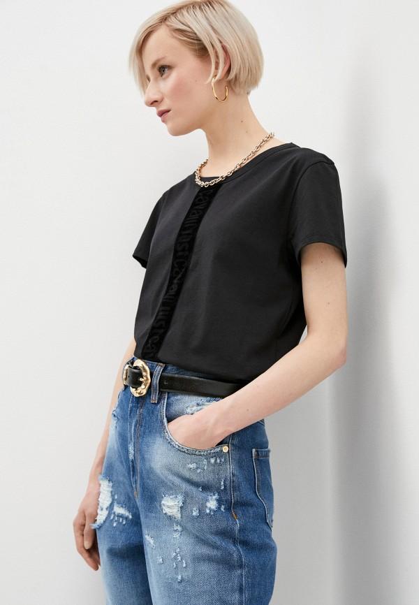 женская футболка just cavalli, черная
