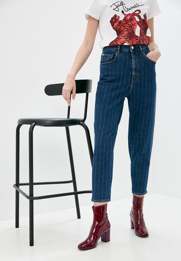 женские джинсы клеш just cavalli, синие