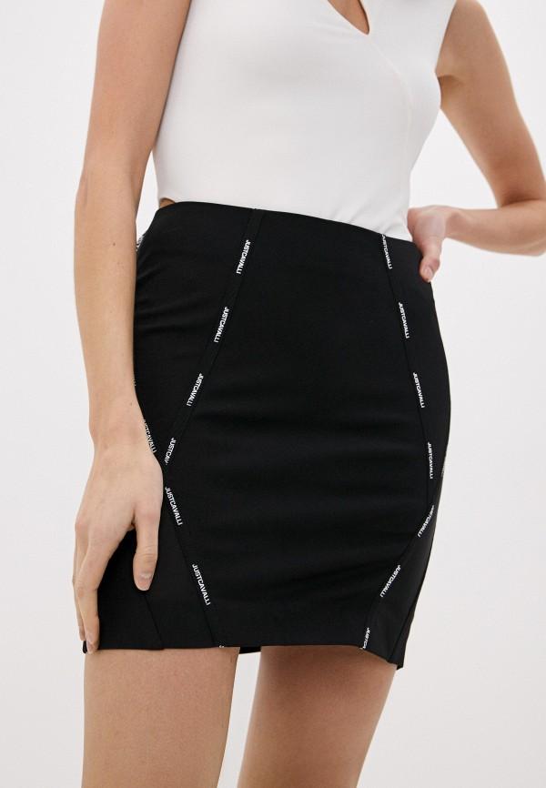женская зауженные юбка just cavalli, черная
