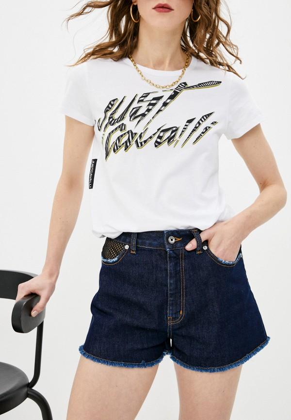 женские джинсовые шорты just cavalli, синие