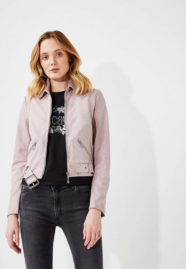 женская куртка just cavalli, розовая