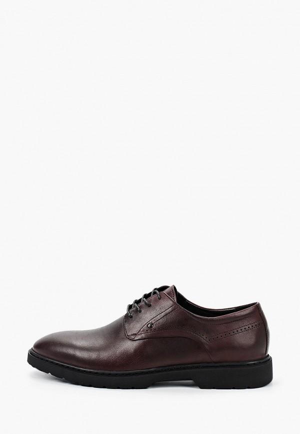 мужские туфли-дерби just couture, бордовые