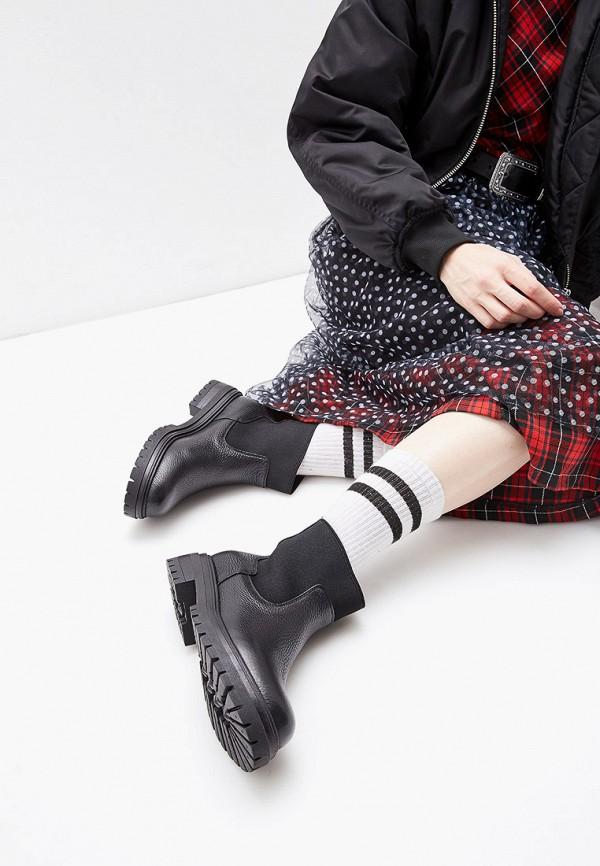 Фото 6 - женские ботинки и полуботинки Just Couture черного цвета