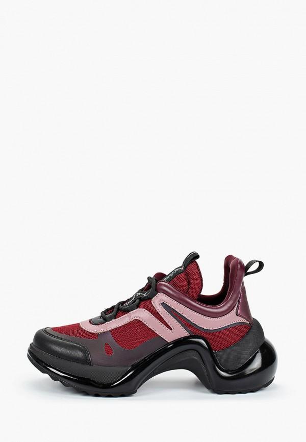 женские кроссовки just couture, бордовые