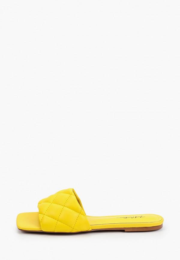 женское сабо just couture, желтое