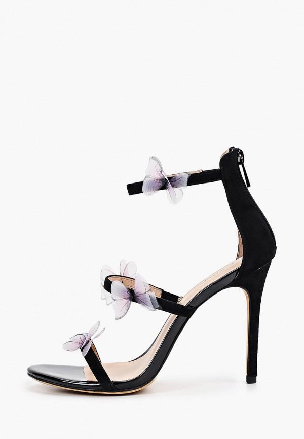 женские босоножки just couture, черные