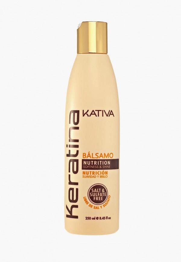 Купить Бальзам для волос Kativa, Кератиновый укрепляющий для всех типов, 250 мл, ka009luasg21, белый, Осень-зима 2018/2019