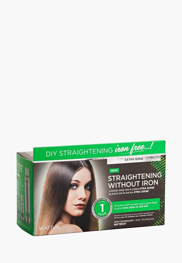 Купить Набор для ухода за волосами Kativa, IRON FREE для выпрямления Экстра-блеск для тусклых волос с жемчугом и кератином, ka009lwcpdk7, белый, Весна-лето 2019