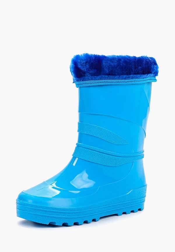 Фото 2 - Резиновые сапоги Каури синего цвета