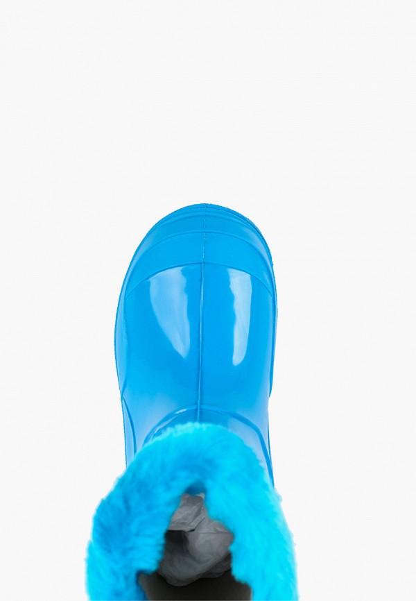 Фото 4 - Резиновые сапоги Каури синего цвета