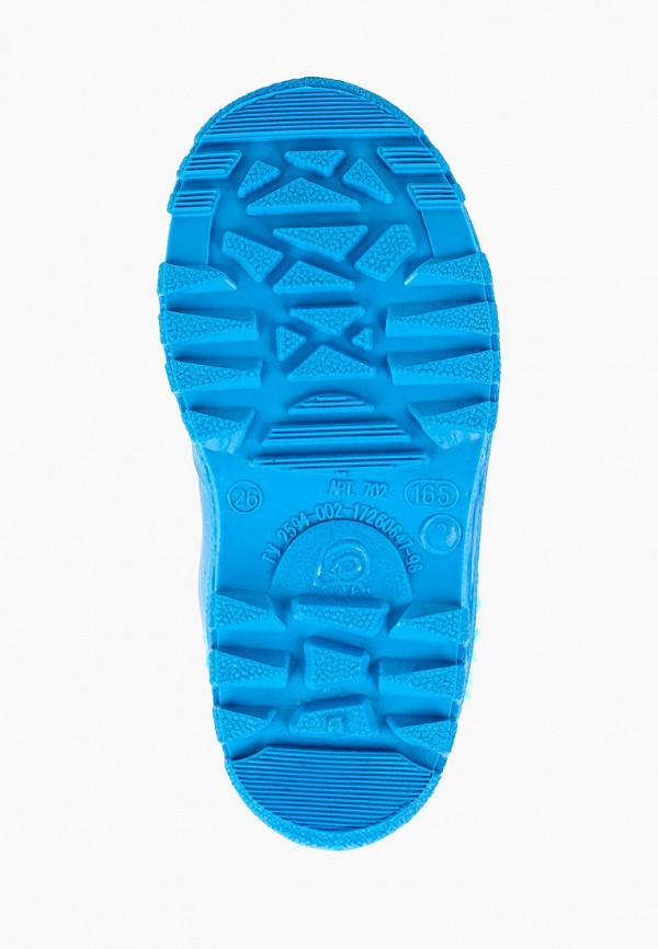 Фото 5 - Резиновые сапоги Каури синего цвета