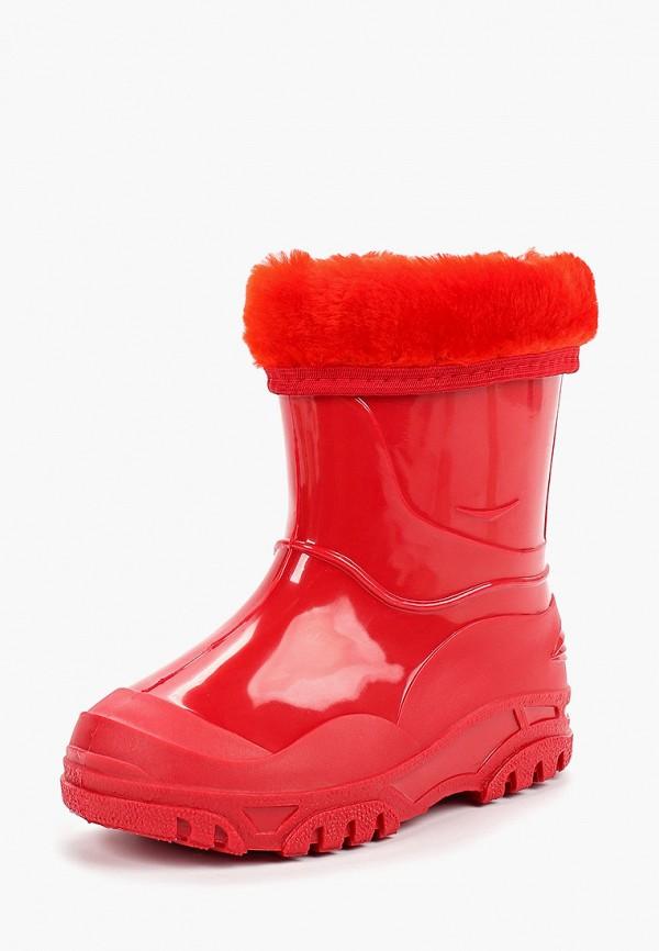 Фото 2 - Резиновые сапоги Каури красного цвета