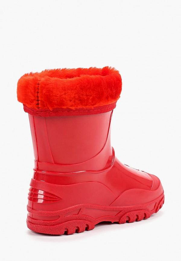 Фото 3 - Резиновые сапоги Каури красного цвета