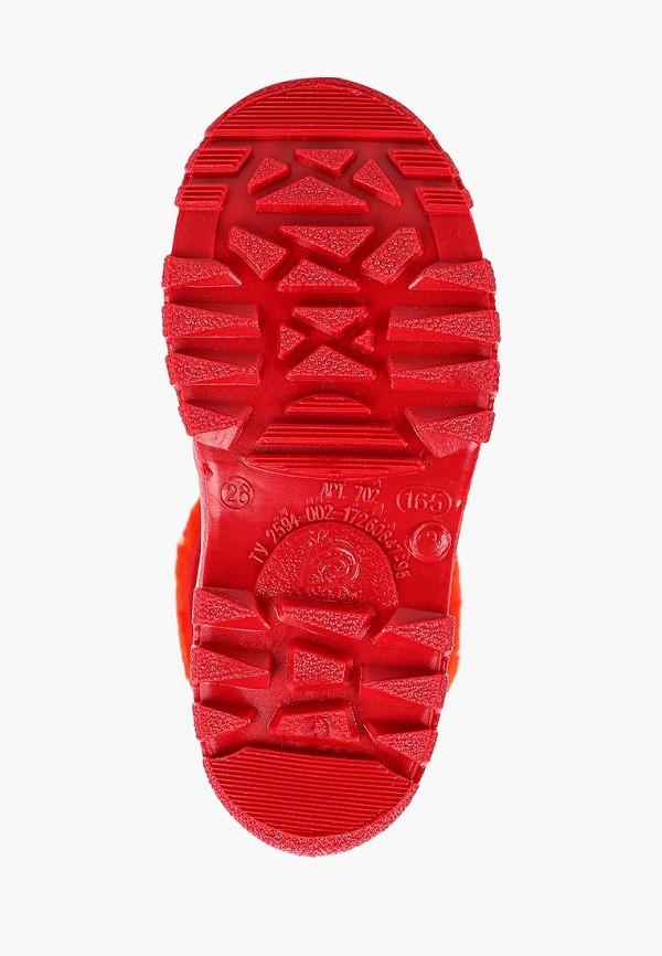 Фото 5 - Резиновые сапоги Каури красного цвета