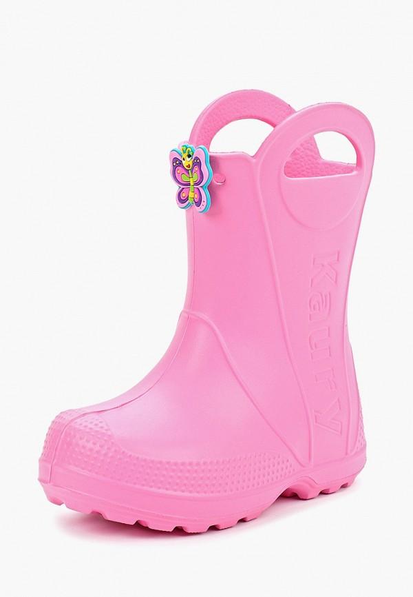 Фото 2 - Резиновые сапоги Каури розового цвета