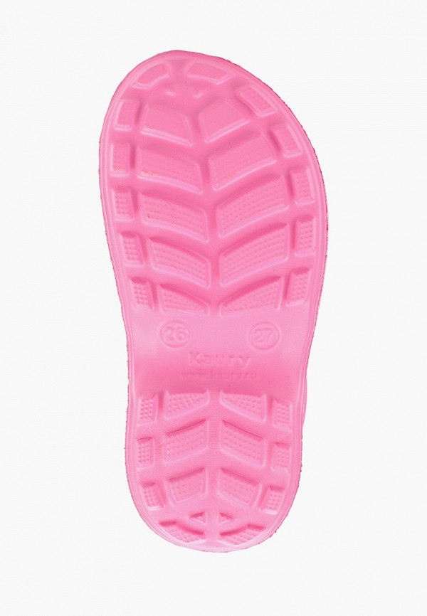 Фото 5 - Резиновые сапоги Каури розового цвета