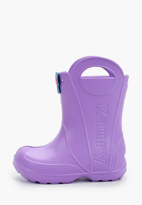 резиновые сапоги каури для девочки, фиолетовые