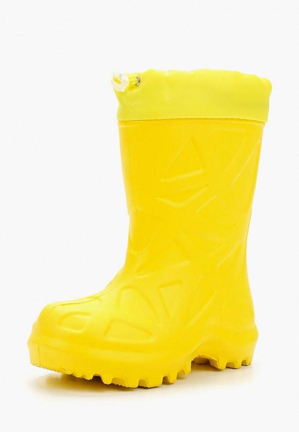 резиновые сапоги каури малыши, желтые