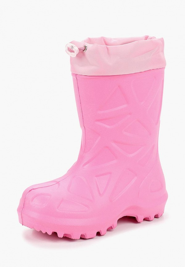 резиновые сапоги каури для девочки, розовые