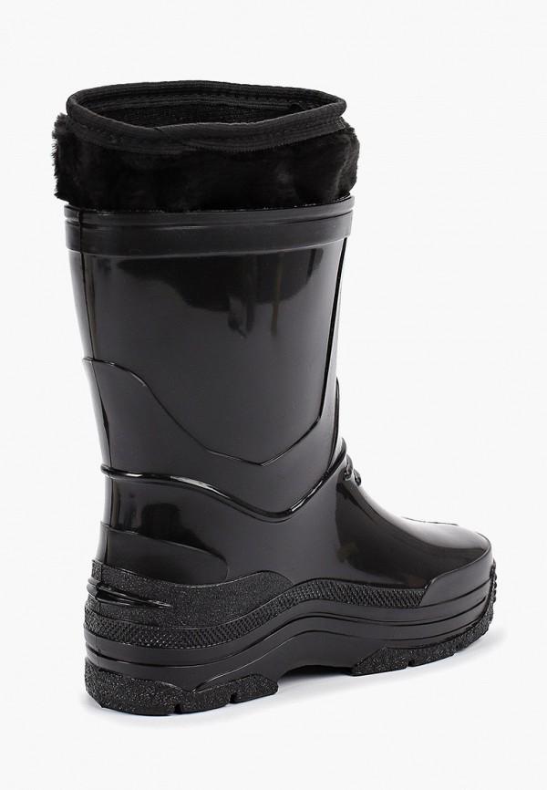 Фото 3 - Резиновые сапоги Каури черного цвета