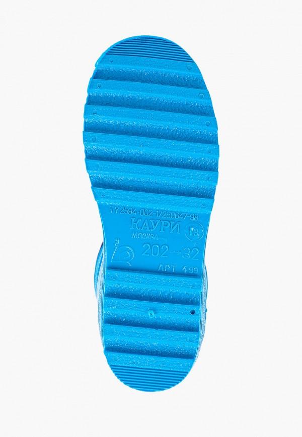 Фото 5 - Резиновые сапоги Каури голубого цвета