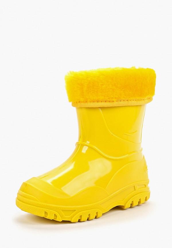 Фото 2 - Резиновые сапоги Каури желтого цвета