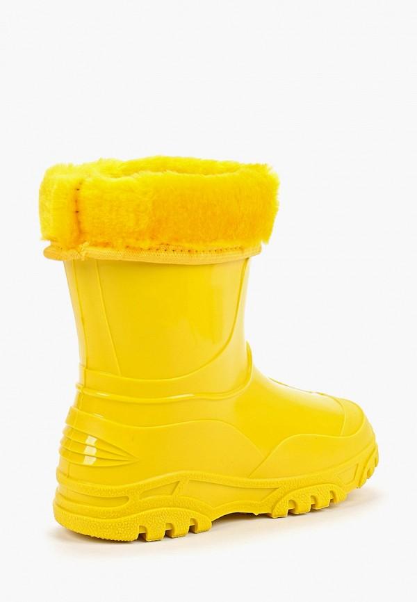 Фото 3 - Резиновые сапоги Каури желтого цвета