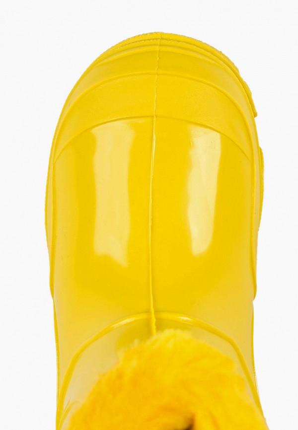 Фото 4 - Резиновые сапоги Каури желтого цвета