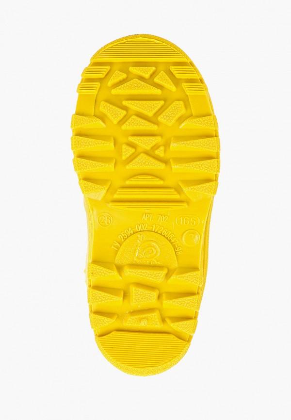 Фото 5 - Резиновые сапоги Каури желтого цвета