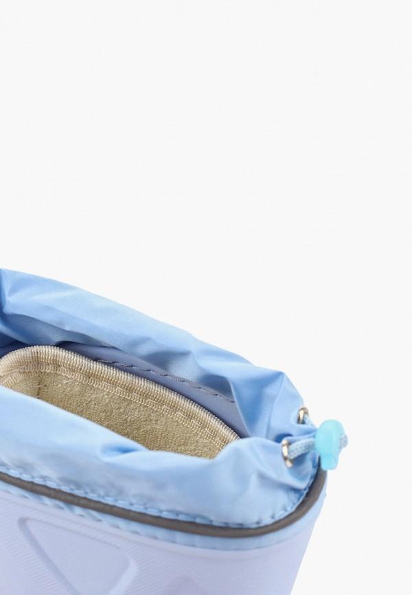 Фото 6 - Резиновые сапоги Каури голубого цвета