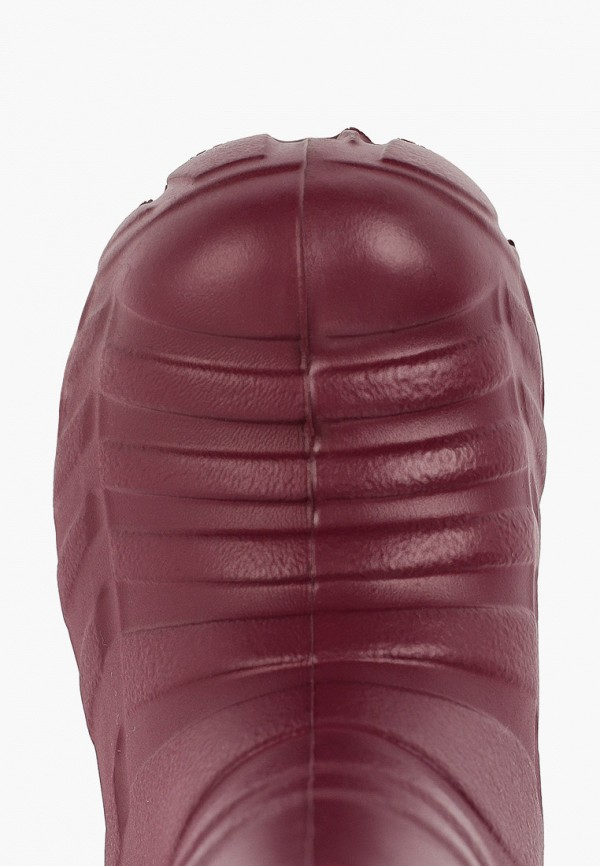 Фото 4 - Резиновые сапоги Каури красного цвета