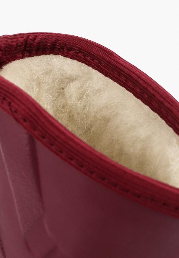Фото 6 - Резиновые сапоги Каури красного цвета