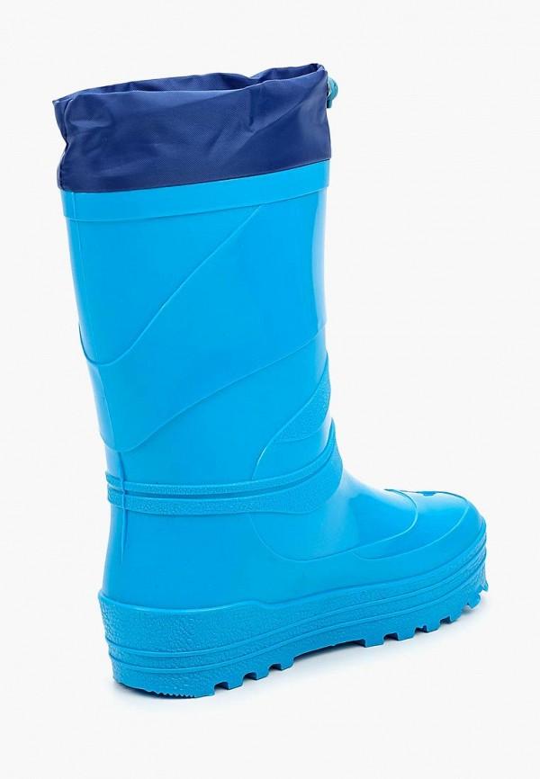 Фото 2 - Резиновые сапоги Каури голубого цвета