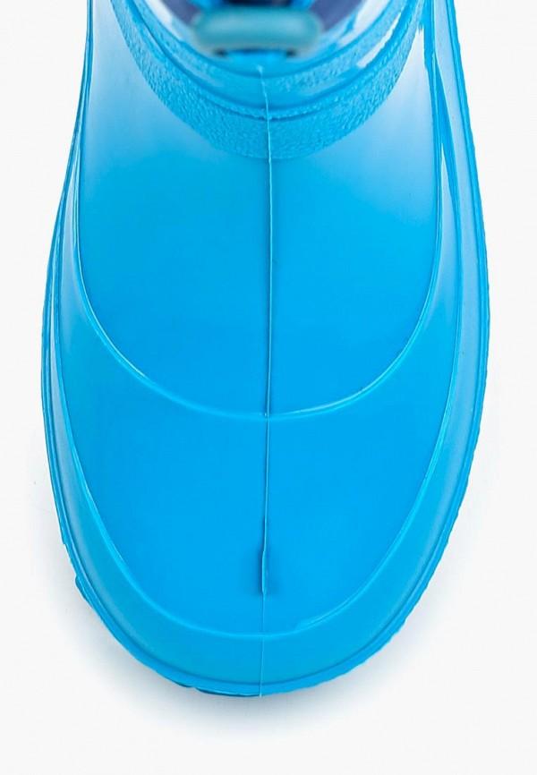 Фото 4 - Резиновые сапоги Каури голубого цвета