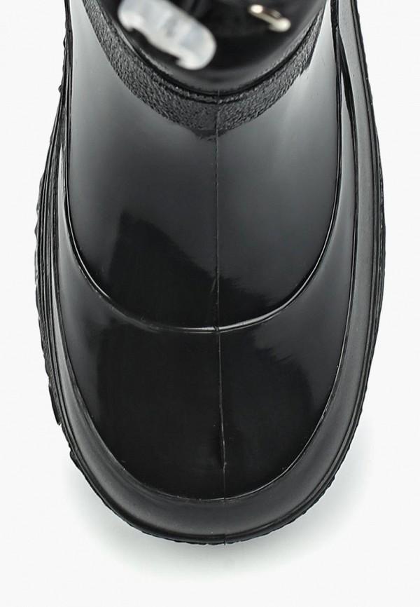 Фото 4 - Резиновые сапоги Каури черного цвета