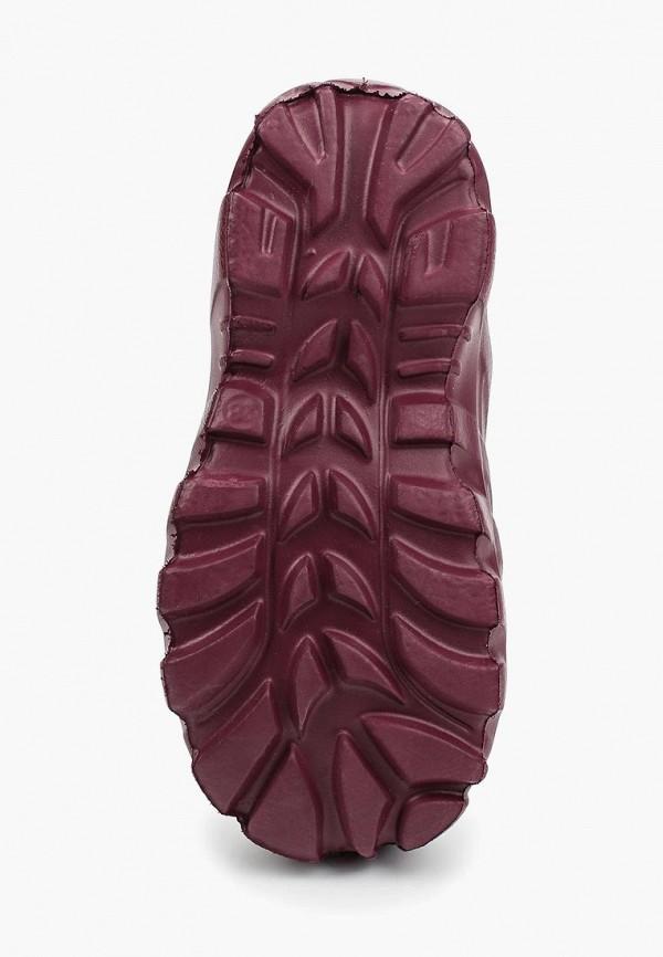 Фото 3 - Резиновые сапоги Каури бордового цвета