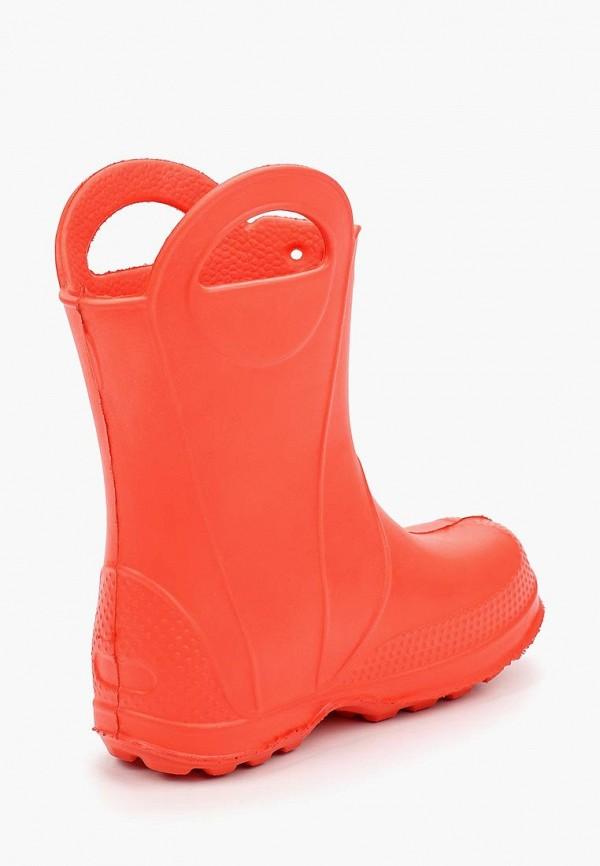 Фото 2 - Резиновые сапоги Каури оранжевого цвета